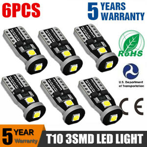 Smart City-Coupe 8SMD LED Error Free Canbus Side Light Beam Bulbs Pair Upgrade