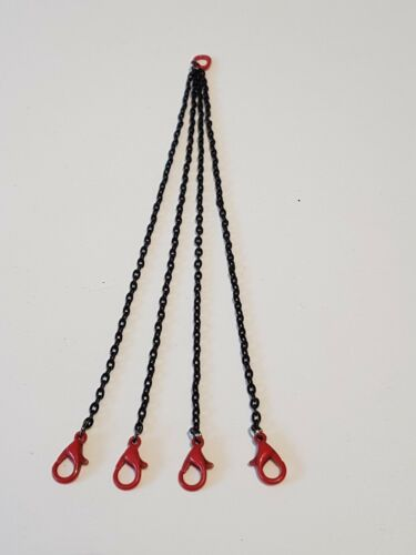 cadena 6cm en 1:50 con gancho cerrados kranketten 4er kettengehänge