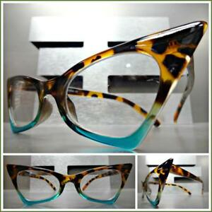 d819b7621 Image is loading Exaggerated-Retro-Cat-Eye-Style-EYE-GLASSES-Pointy-