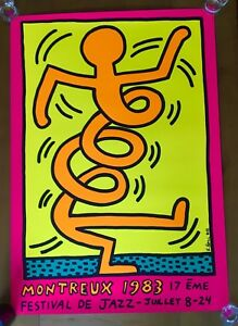 Keith Haring - Montreux Jazz Festival 1983 Pink