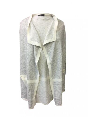Olsen Long Cardigan Size 40-46 Grey//Cream Cardigan Tanktop Knee Length