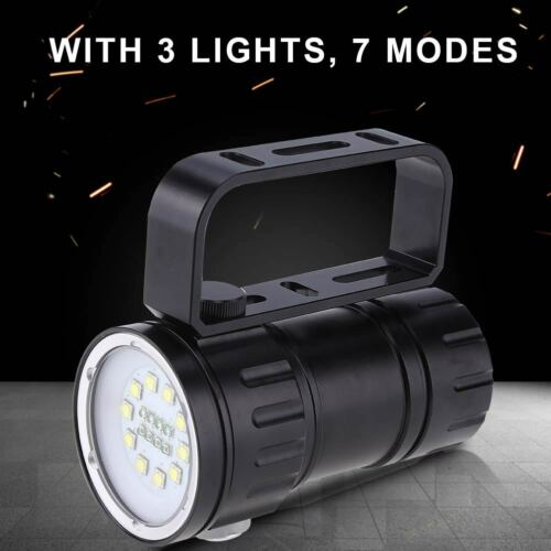 support 12000Lm LED Lampe de poche Torche Flashlight Pour Plongée sous-marine