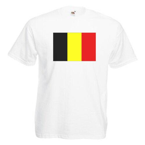 Belgium Flag Children/'s Kids School Event T Shirt