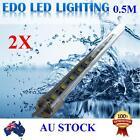 2X12V Cool Warm White 5050 SMD Bar Boat Camping LED Strip Light Waterproof IP66