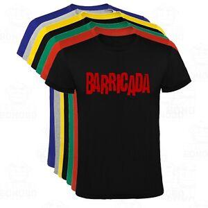 Rock Ebay Y Hombre El Tallas Drogas Camiseta Barricada Colores qpwT4f7O