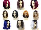 Wiwigs ® Wonderful Medium Bob Style Wigs Blonde Grey Blue Red Brown Ombre Hair