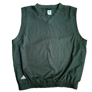 ADIDAS-GOLF-WIND-Vest-LARGE-XL-GREEN-CLIMASHELL-Classic-Club-Sleeveless-Pullover