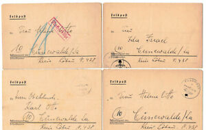 4 X Army Postal Service Letter 1944 F. P.N.02267 + Content 1942