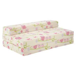 owls double kids folding chair bed sofa guest mattress fold out futon foam girls ebay. Black Bedroom Furniture Sets. Home Design Ideas