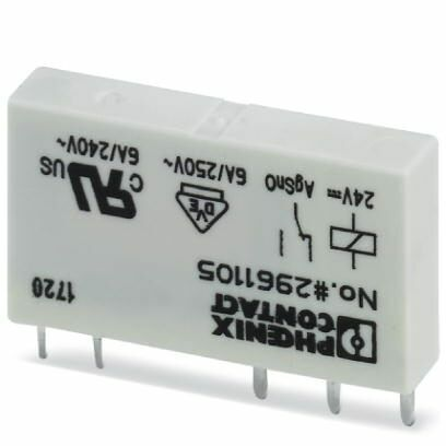 PHOENIX Miniaturrelais Einzelrelais REL-MR- 24DC/21 2961105 steckbar 6A