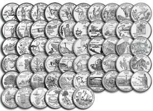 D /& P Mix 50 different coins! PRESALE 1999-2008 COMPLETE 50 STATE QUARTERS SET