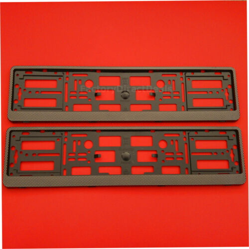2 X Nouveau Carbone Effet Nombre Support de Plaque Cadre Support Pour Tout SAAB voiture