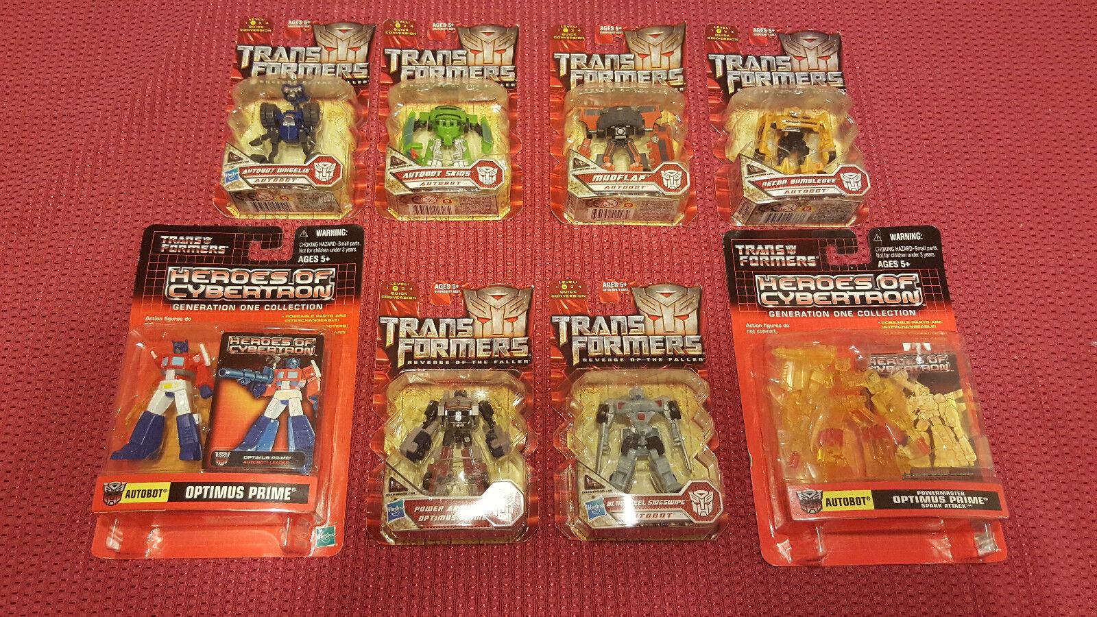 Transformers OPTIMUS BUMBLEBEE WHEELIE FIGURES COLLECTIBLES NEW LOT 8X L@@K