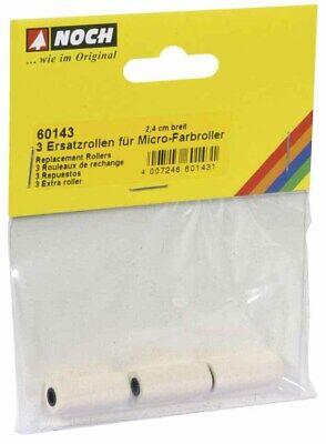 NOCH 60143 3 Ersatzrollen für Micro-Farbroller 2,4 cm breit NEU in OVP