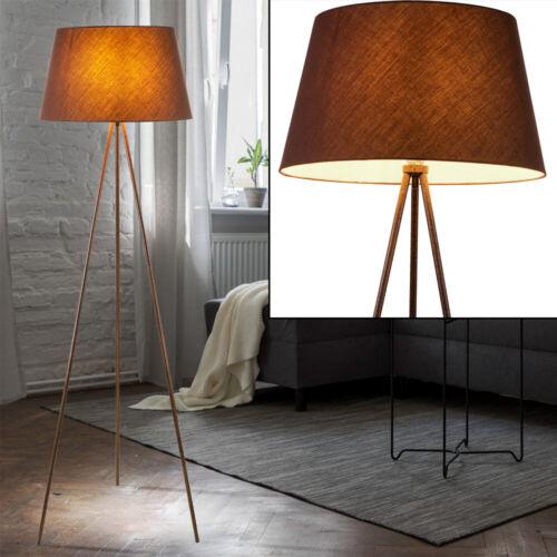 LED Textil Decken Fluter Steh Lampe Arbeits Zimmer Stativ Leuchte SCHWARZ GOLD