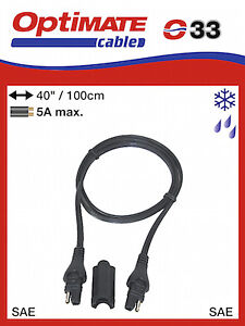 OptiMate SAE 033 Extension Lead - 1m (033) Supplier & Warranty NEW