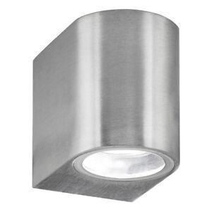 Searchlight-1-lampes-en-aluminium-argent-exterieur-jardin-garage-mur-montage-lampe-NEUF