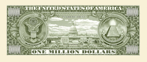 Set of 10 The Traditional One Million Dollar Bill Great Novelty Bill!