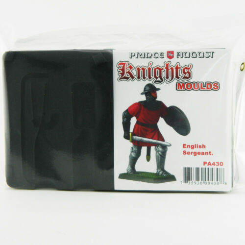 54mm Medieval English Sergeant casting rubber Prince August moulds molds PA430