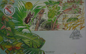 Malaysia FDC with Miniature Sheet (28.11.1998) - Insects of Malaysia (A)
