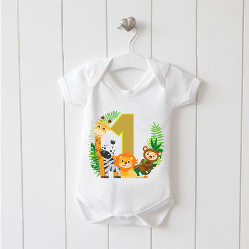 1 Year Old Baby Animal Print Baby Vest Baby Grow 100/% Cotton Boys Girls Cute