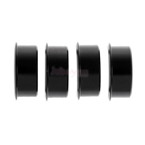 Shim//Reducer Black Road Bike Handlebar 31.8mm to 25.4mm Aluminium Alloy