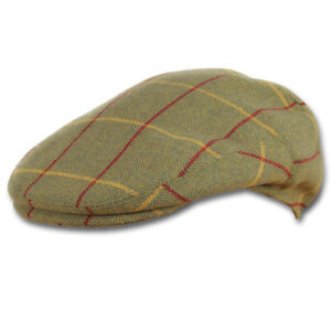 Jack Pyke Moleskin Flat Cap Olive Green Light Brown Mens Ladies Country