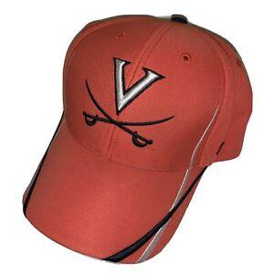 University of Virginia Cavaliers Hat Cap Adjustable Hook Loop Orange Cavs NCAA