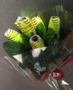 Softball Flower Bouquet
