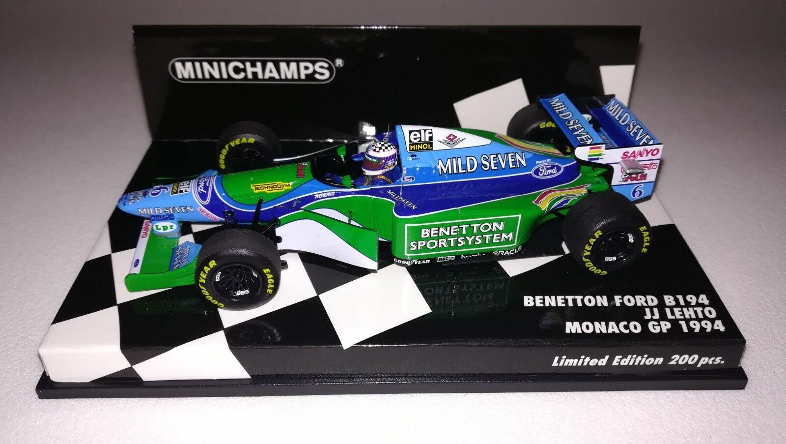 Minichamps F1 Benetton Ford B194 JJ Lehto 1 43 Monaco GP 1994 'Mild Seven'