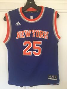 Derrick Rose New York Knicks Swingman Youth M 10 12 Blue NBA Away ... 36db21535