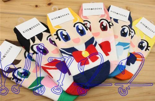 Sailormoon Sailor Moon 20th anniversary Womens Socks US 6-9 New