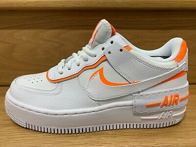 Nike Women's Air Force 1 Shadow WhiteTotal Orange CI0919 103