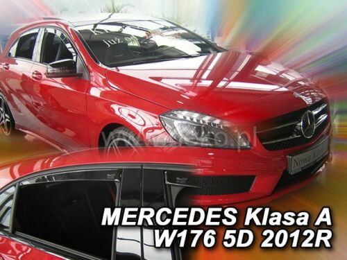 4 Deflettori Aria Antiturbo Mercedes Classe A W176 2012-2018 5 porte