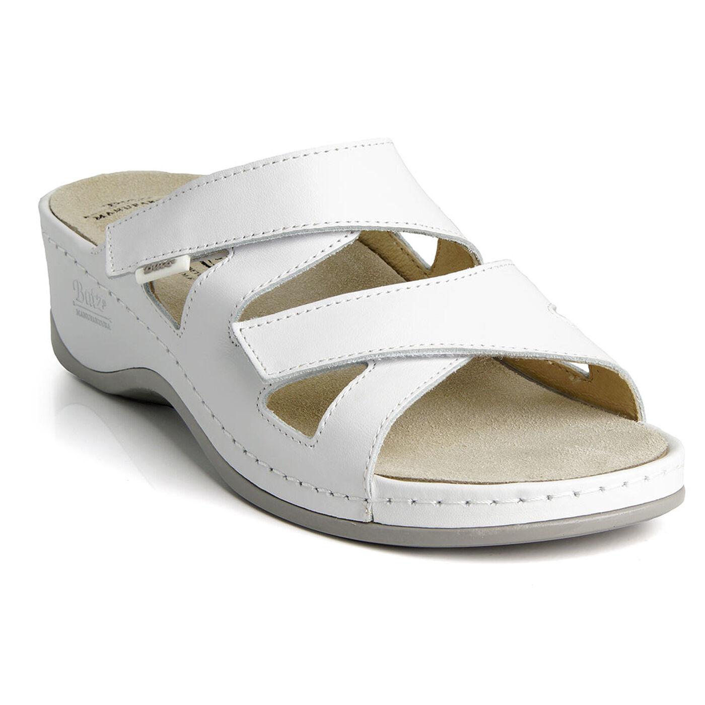 Batz EVELIN White Top Quality Handmade Leather Sandals Clogs Mules Women UK New