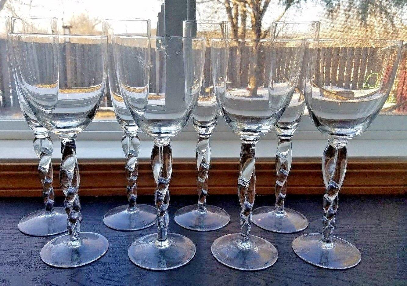 Elegantt   Set of 8 Krosno glasses; 4 water and 4 wine glasses... Poland
