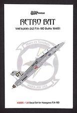 jbr48005/ JBr Decals - F/A-18D - Retro Bat - VMFA (AW)-242 - 1/48 - TOPP DECALS