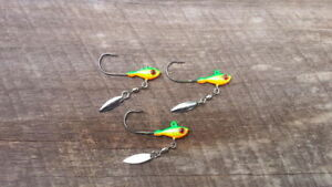 Bob4Bass Bladed Tungsten Weighted Swimbait Hook Choice of Blade Color 2 in a PK