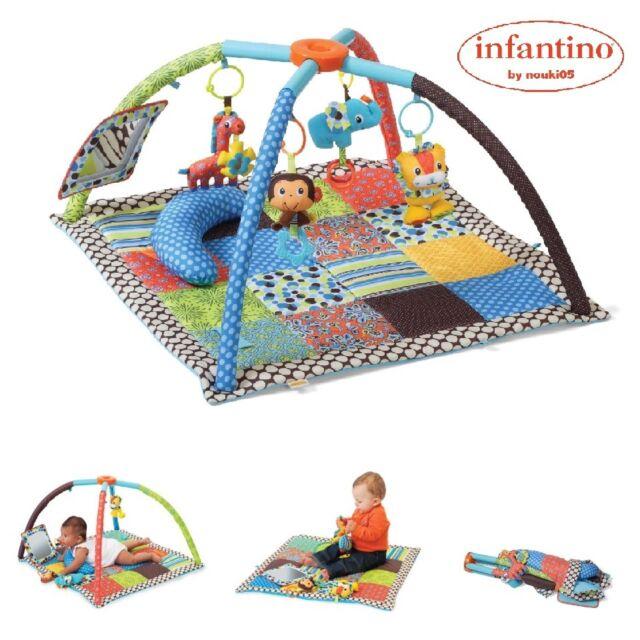 Infantino B kids Playmat Zoo Krabbeldecke Spielbogen Activity Gym Spielcenter
