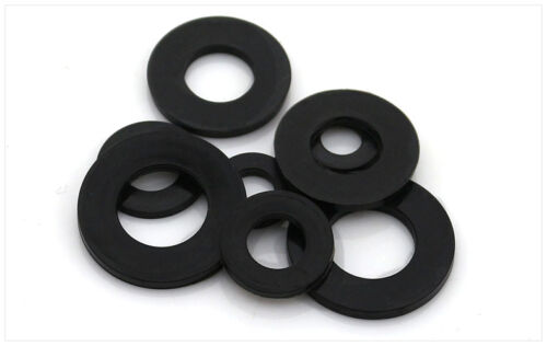 50//100pcs Plastic Nylon Flat Spacer Washer Insulation Gasket Ring For Screw Bolt