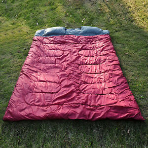 Outsunny-Double-Large-Sleeping-Bag-Camping-Climbing-Trip-Use-Compact-Envelope
