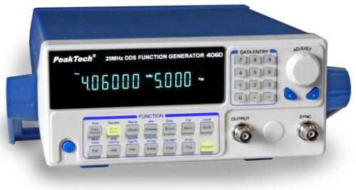 20MHz mit 10W Leistungsverstärer PeakTech 4060 MV DDS Function Generator 10µHz