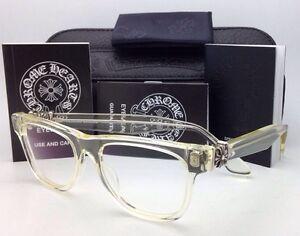 acdd4e4265a New CHROME HEARTS Eyeglasses HARD WC Clear - Buff Frames w  Sterling ...