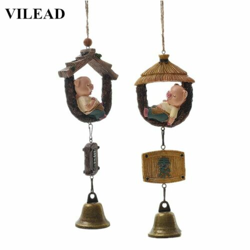Pig Wind Chimes Lovely Anime Home Decoration Hanging Ornament for Wall Door New
