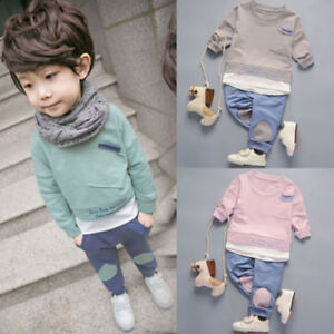 d5d74079c Kids Boys Winter Warm Clothing Casual Toddler Long Sleeve Cotton ...