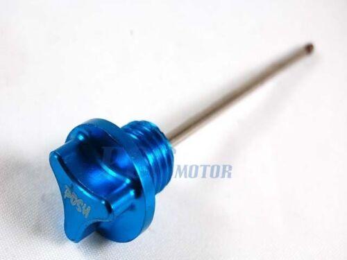 CNC ENGINE OIL DIPSTICK SDG SSR Lifan 107 110 125CC BLUE H DS01