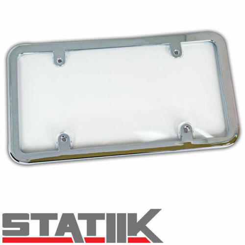 1PC LICENSE PLATE FRAME AND CLEAR ACRYLIC TOUGH SHIELD PROTECTOR COVER S5