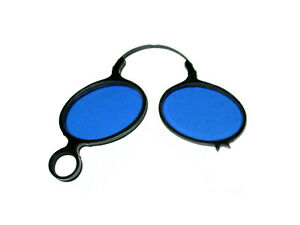 Antique-Bausch-amp-Lomb-Blue-Pince-Nez-Sunglasses-Vtg-B-amp-L-Vampire-Gothic-Glasses