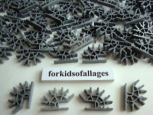 100-KNEX-SILVER-DARK-GRAY-Metallic-4-Position-3D-Connectors-Standard-Part-Pieces