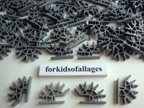 100 KNEX SILVER DARK GRAY Metallic 4-Position 3D Connectors Standard Part//Pieces